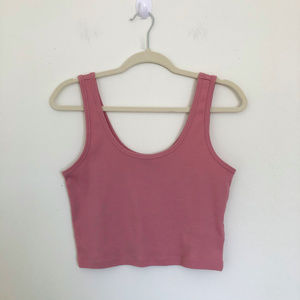 Forever 21 Pink Sleeveless Crop Tank Top